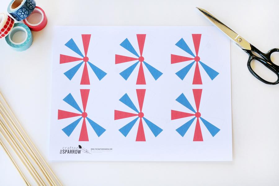 Patriotic Drink Umbrellas Printables