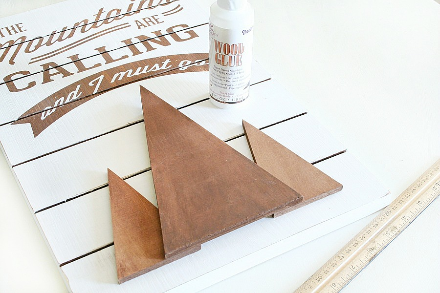 DIY Camping Slat Sign