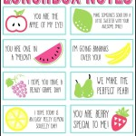 Free Printable Lunchbox Notes