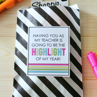 Highlighter Teacher Gift Tags