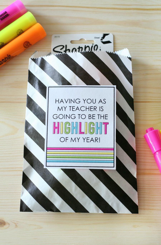 Highlighter Teacher Gift Tags