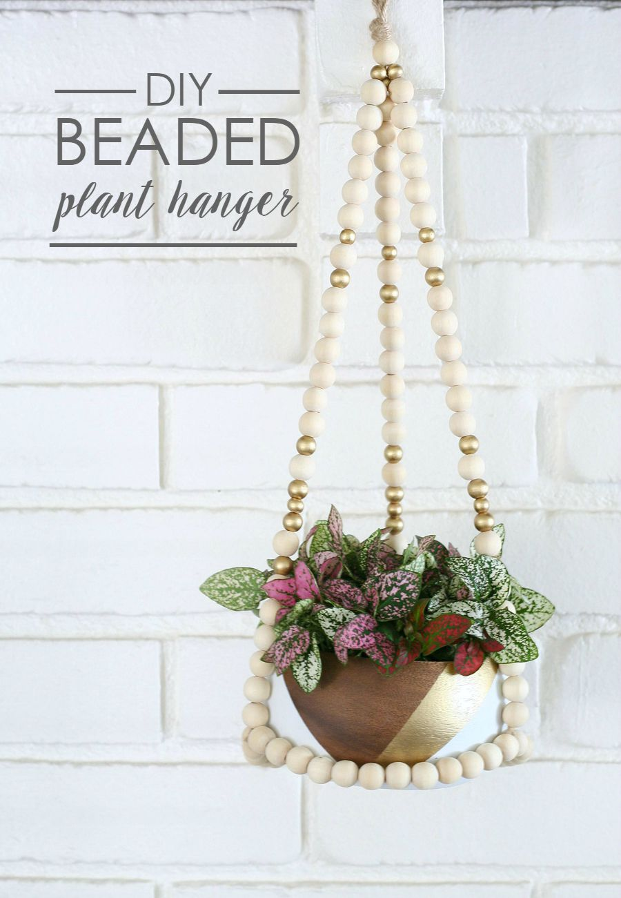 graphic relating to Free Printable Macrame Plant Hanger Patterns named Do it yourself Beaded Plant Hanger