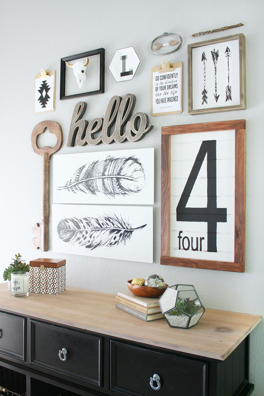 Gallery Wall Ideas Black And White : Black white gallery wall