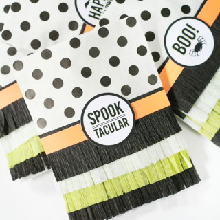 Fringed Halloween Treat Bags