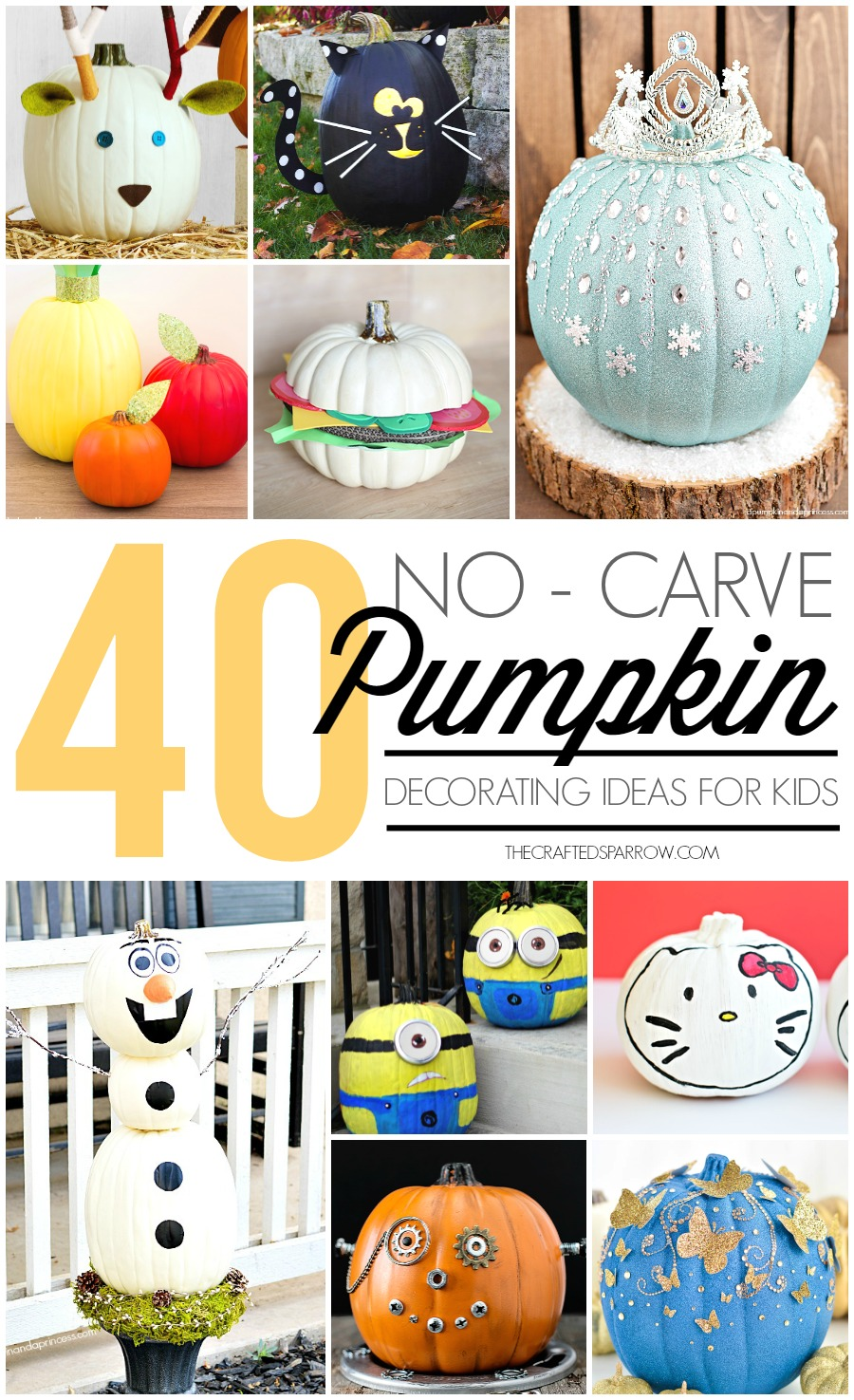 40 No-Carve Pumpkin Decorating Ideas for Kids