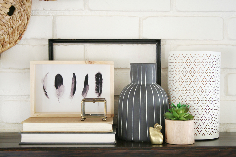 Black & White Mantel Decor 7