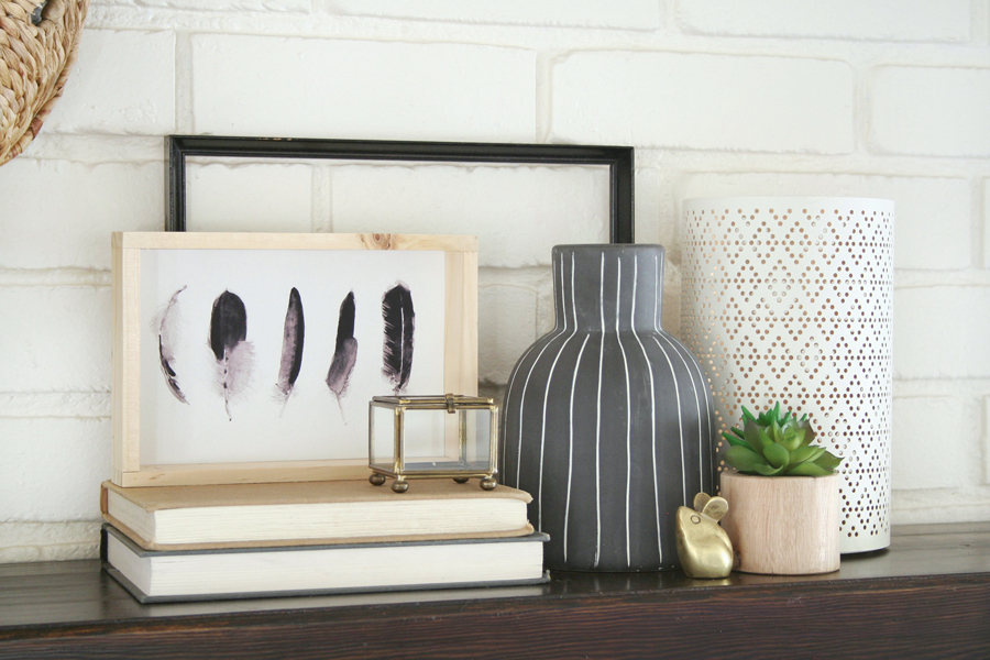 Black & White Mantel Decor 9
