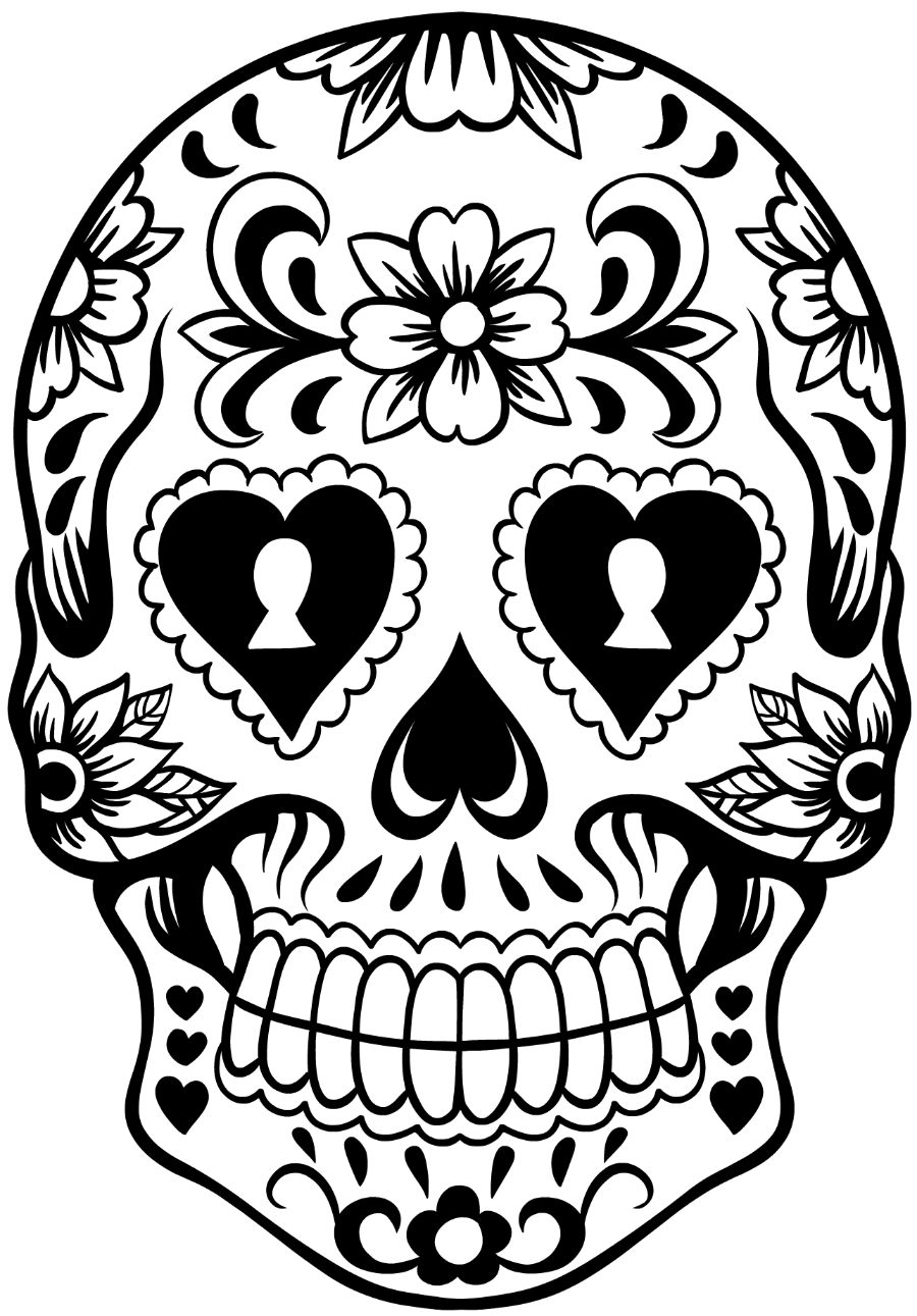 Lively image for printable sugar skulls