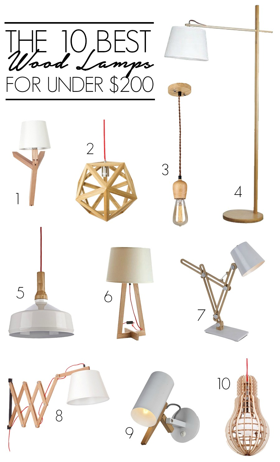 The 10 Best Wood Lamps for Under $200