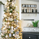 Black & White Christmas Tree Decor