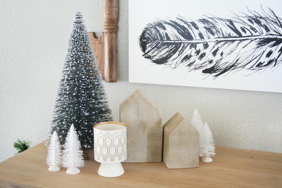Black & White Christmas Entryway Decor