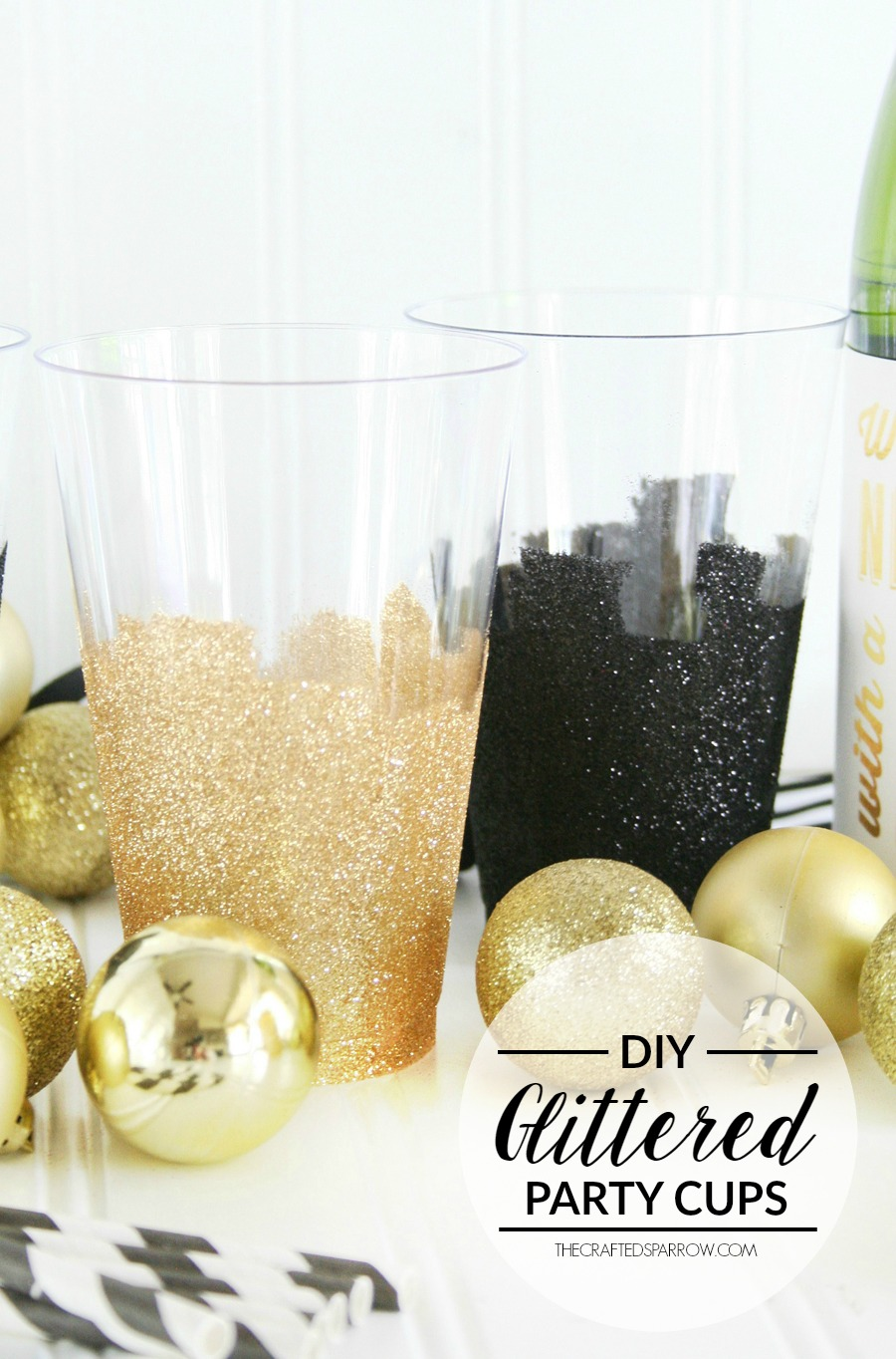 DIY Glittered Party Cups