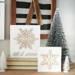 DIY Snowflake Winter Decor