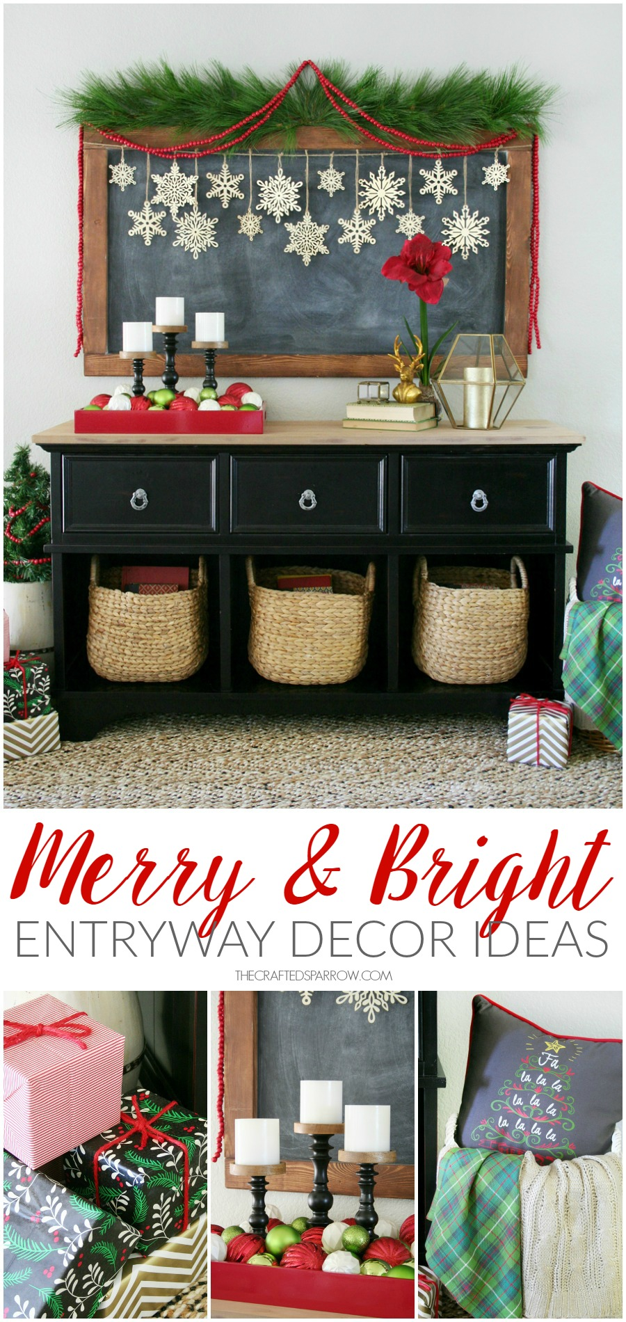 Merry & Bright Holiday Entryway