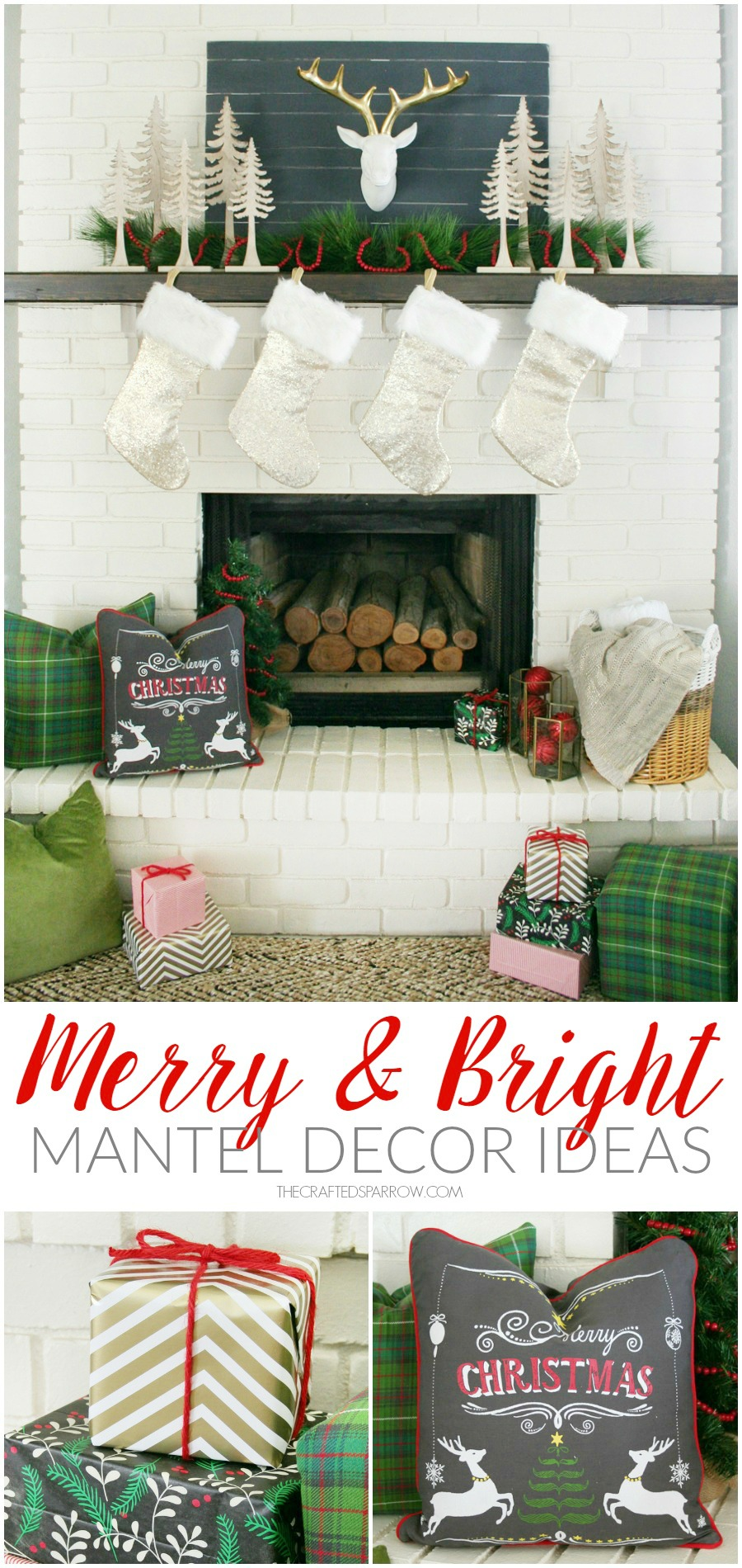 Merry & Bright Holiday Mantel