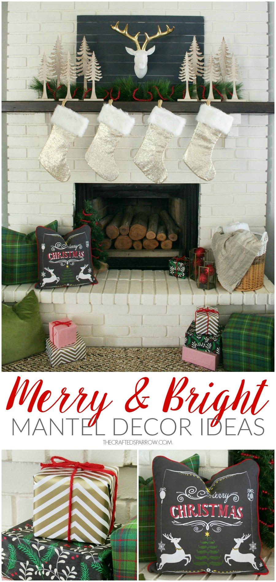 Merry & Bright Holiday Mantel