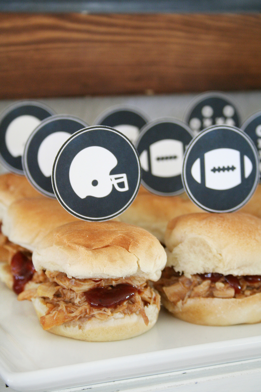 Football Party Appetizer and Photo Printables by the Crafted Sparrow