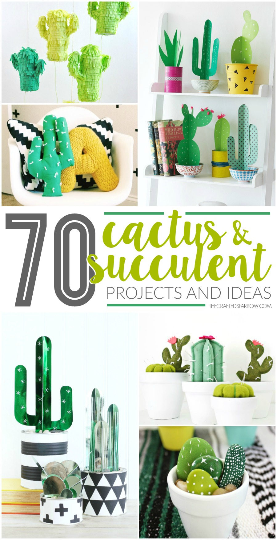 70 Faux Cactus Succulent Projects And Ideas