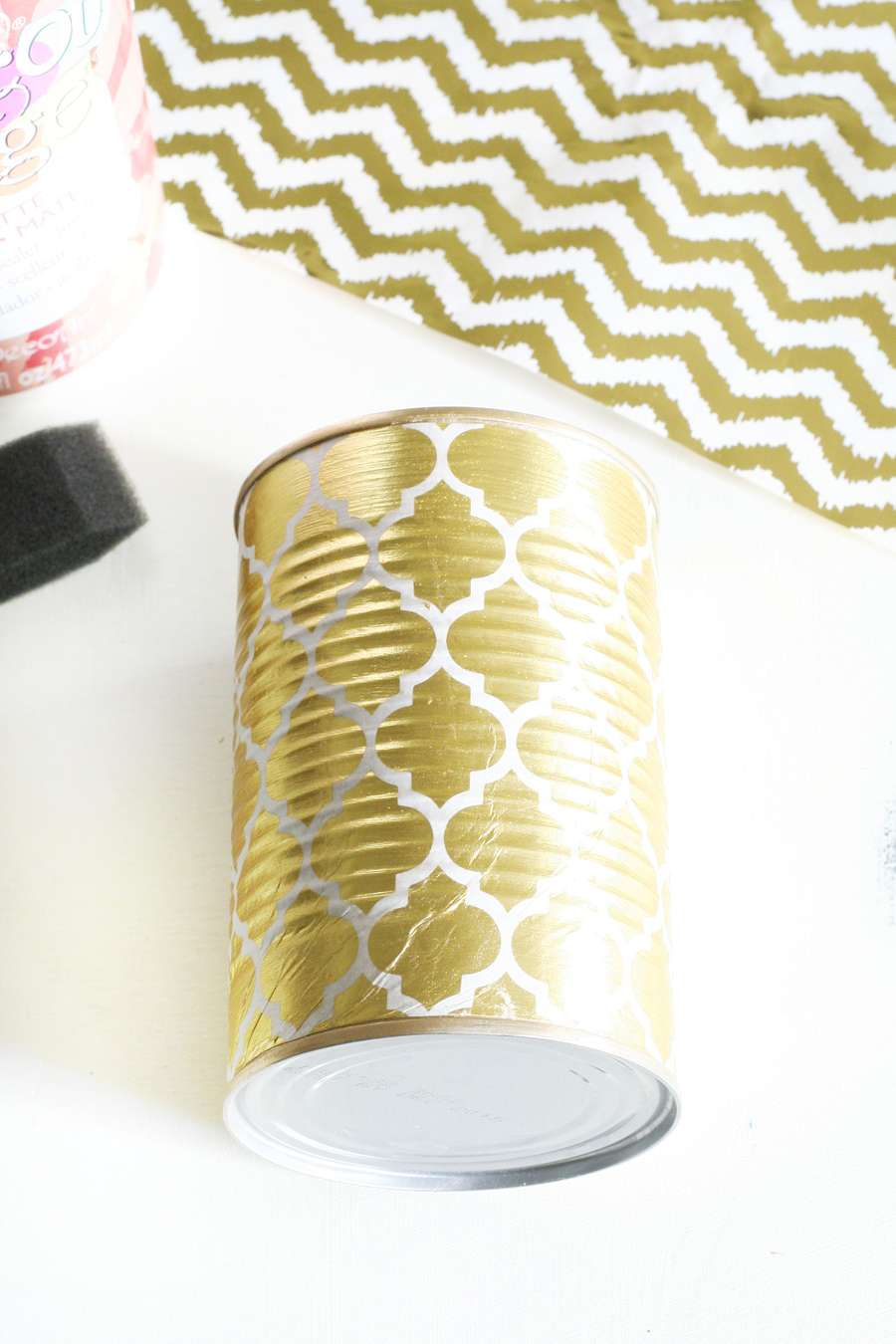 Gold Foiled Tin Cans