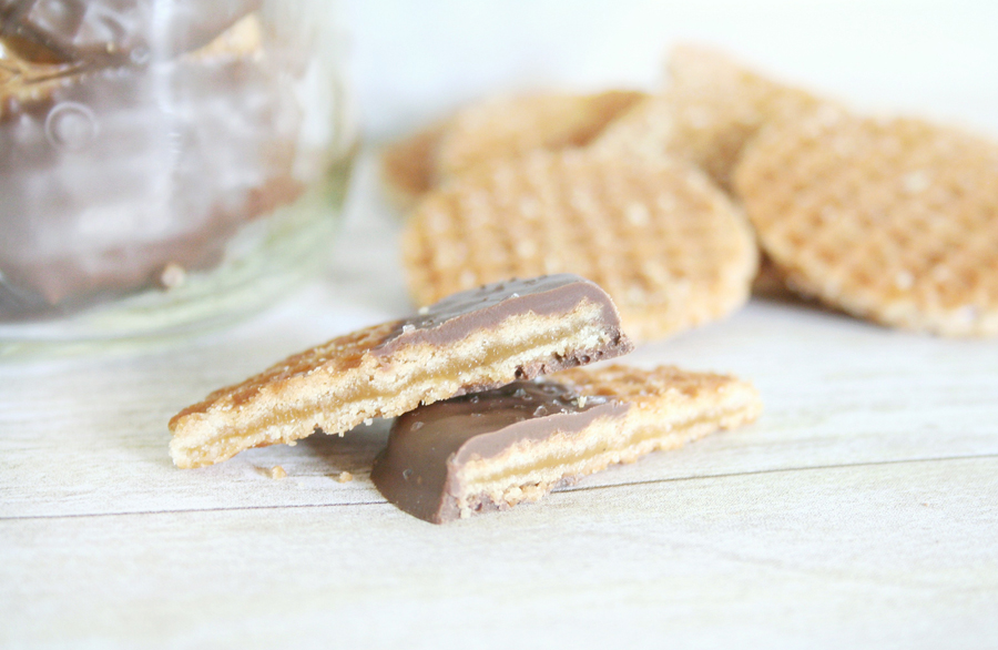 Chocolate Covered Caramel Wafers