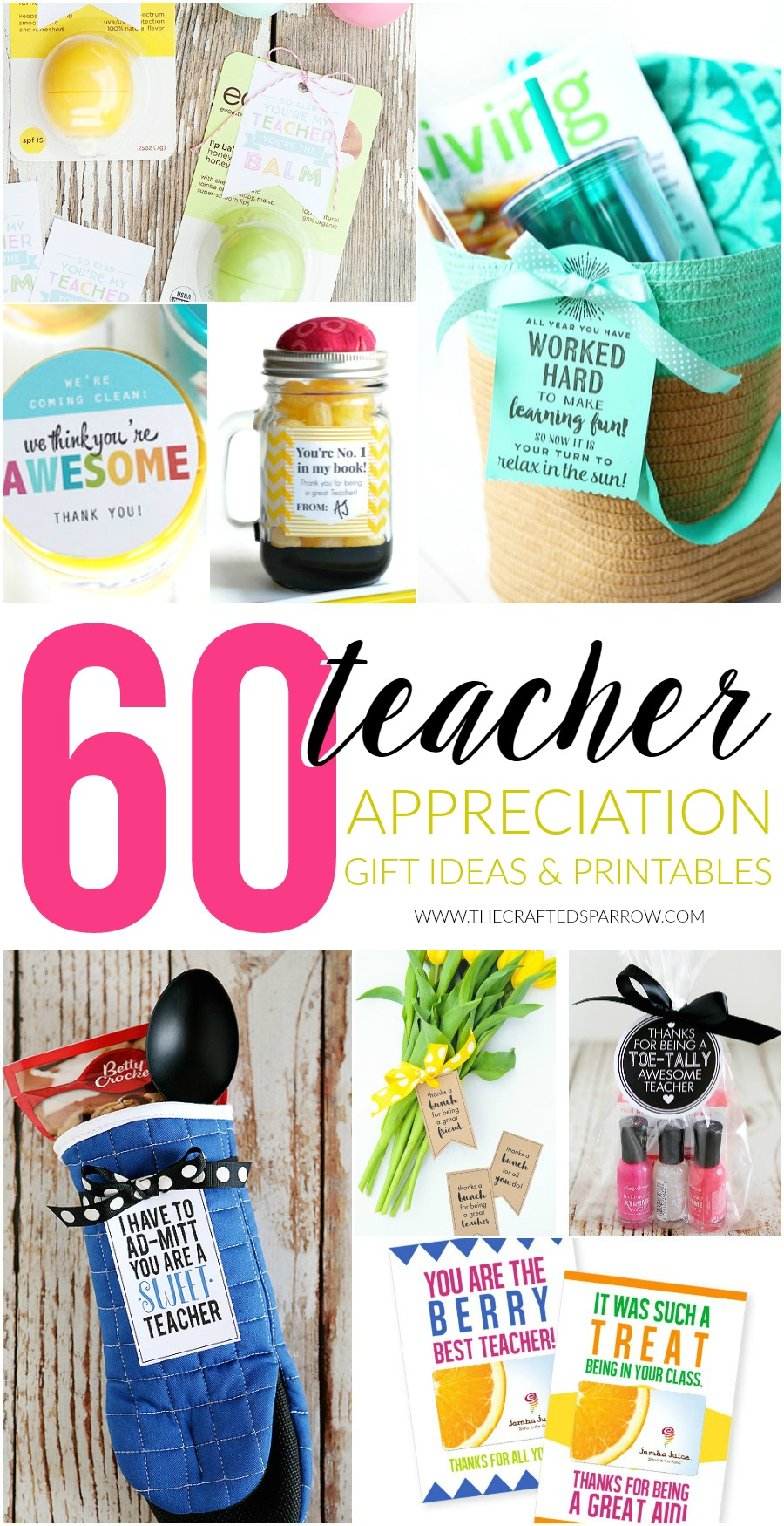 photograph relating to Extra Gum Teacher Appreciation Printable named 60 Trainer Appreciation Present Strategies Printables