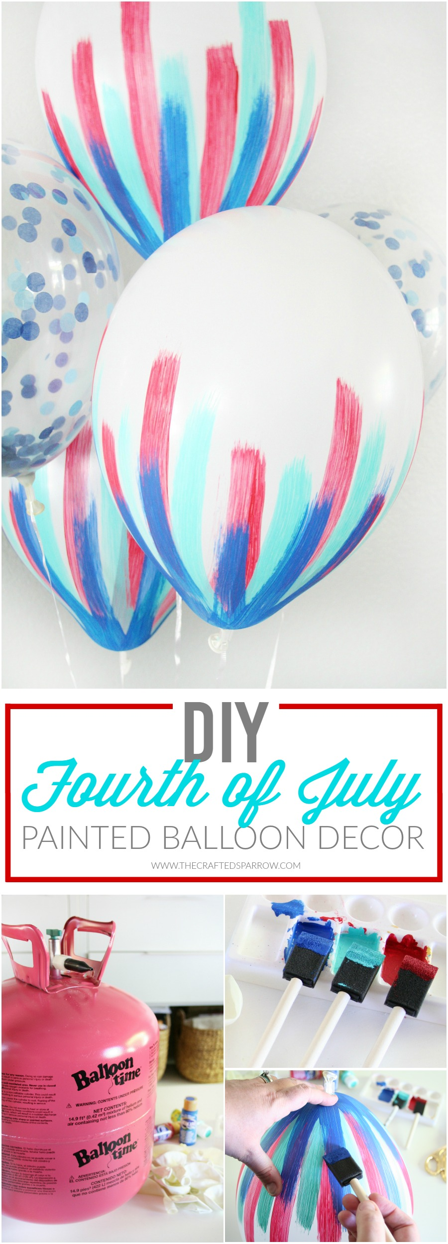 DIY 4th of July Balloon Decor