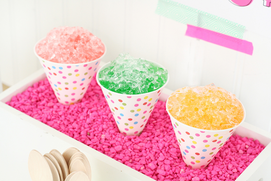 DIY Snow Cone Garland
