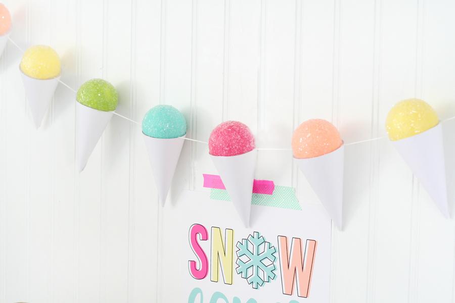 DIY Snow Cone Garland