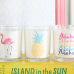 Easy Summer Candle Decor
