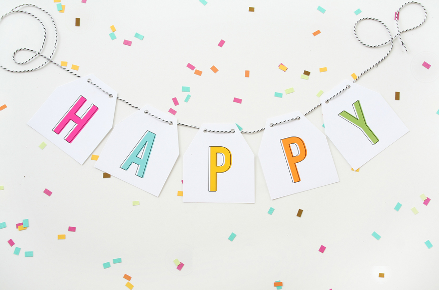 image about Printable Birthday Banners called Absolutely free Printable Birthday Banner