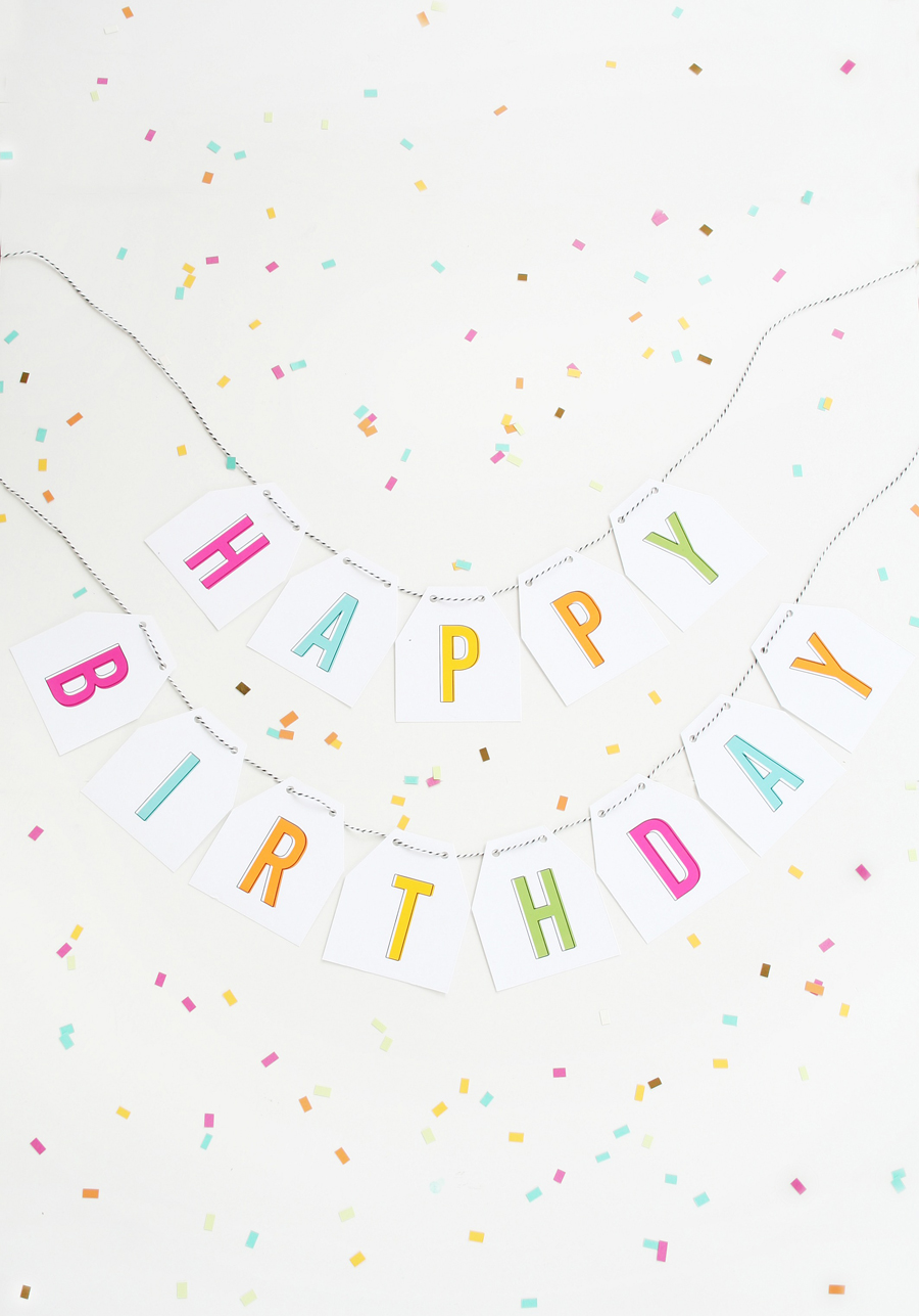 picture about Free Printable Birthday Banner known as Cost-free Printable Birthday Banner
