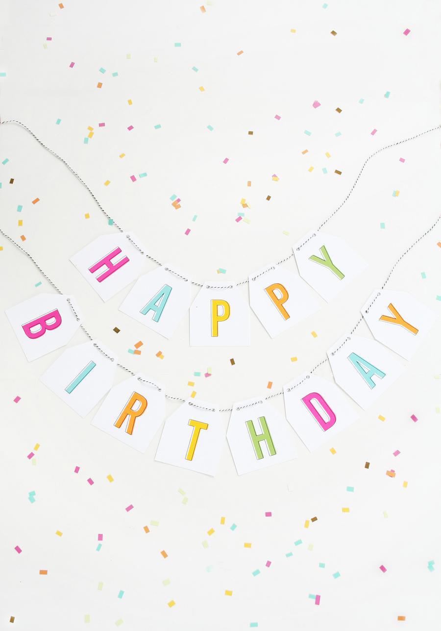 image regarding Free Printable Birthday Banner named No cost Printable Birthday Banner