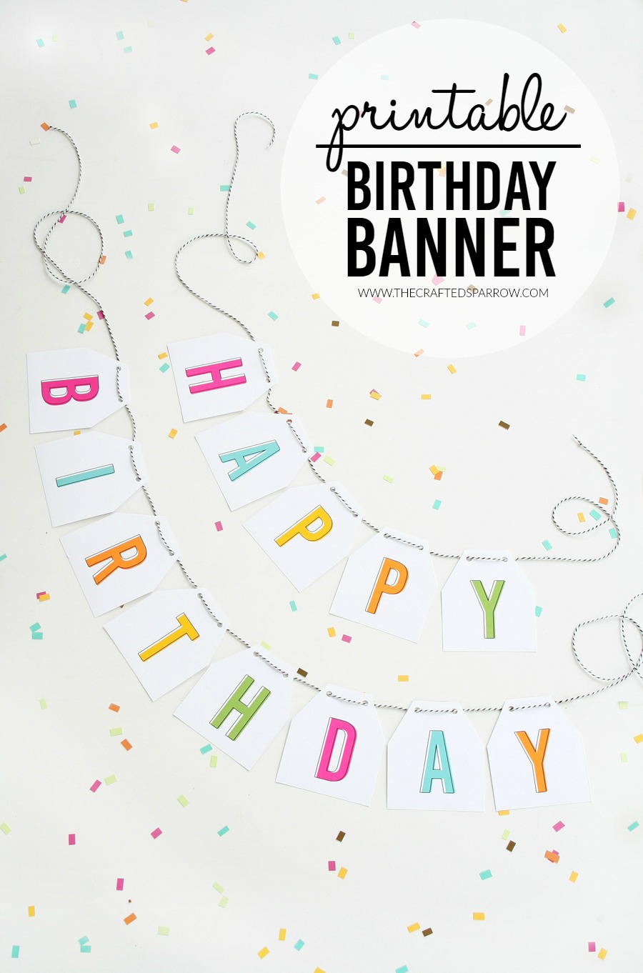 photo relating to Printable Happy Birthday Banner referred to as Cost-free Printable Birthday Banner