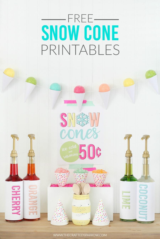 Free Snow Cone Printables