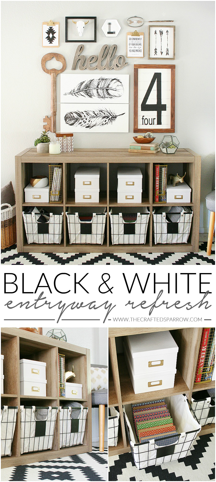 Black & White Entryway Refresh