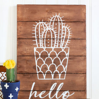 DIY Foam Cactus Sign