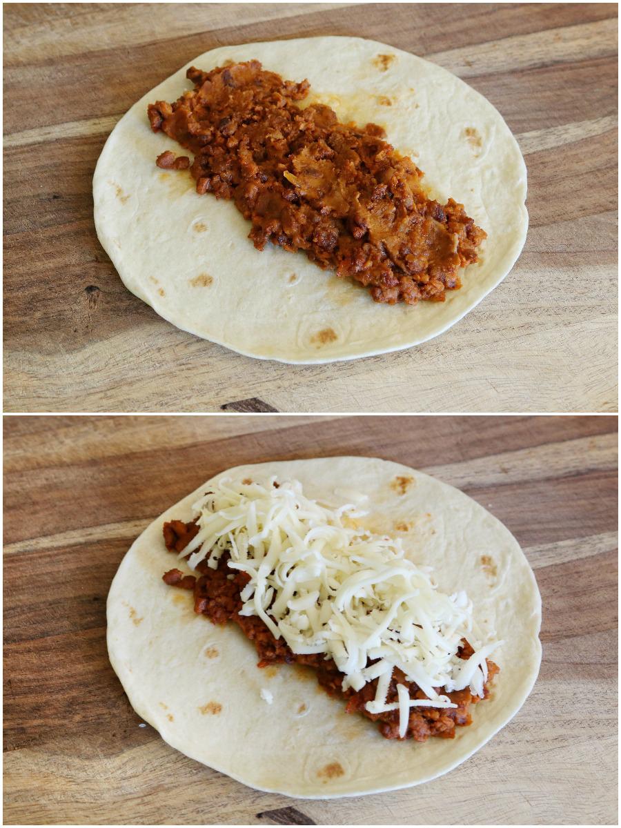 Bean & Chorizo Taquitos