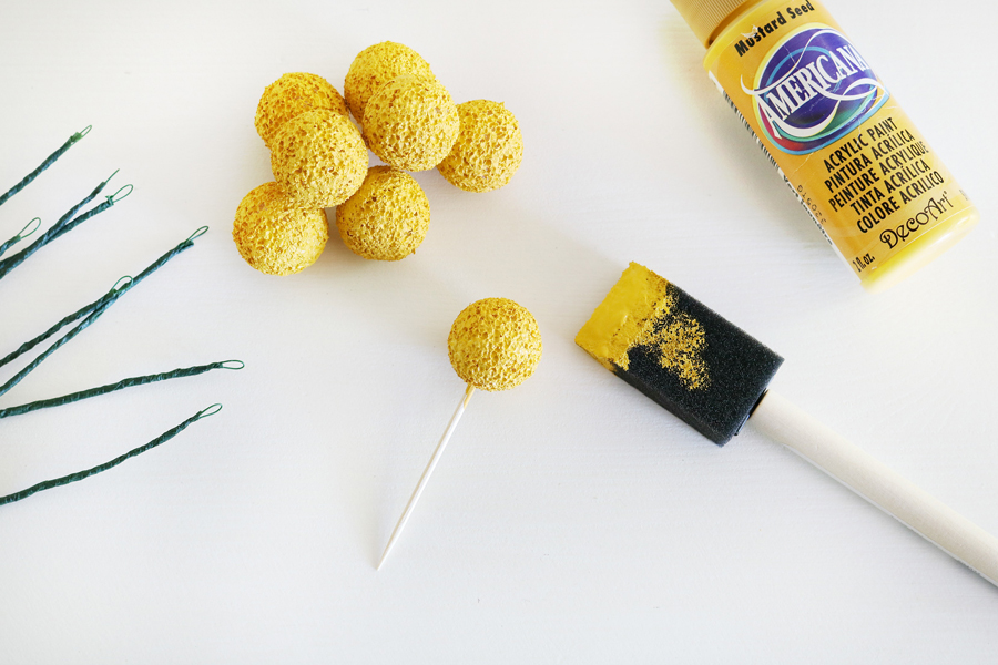 DIY Billy Ball Floral Stems