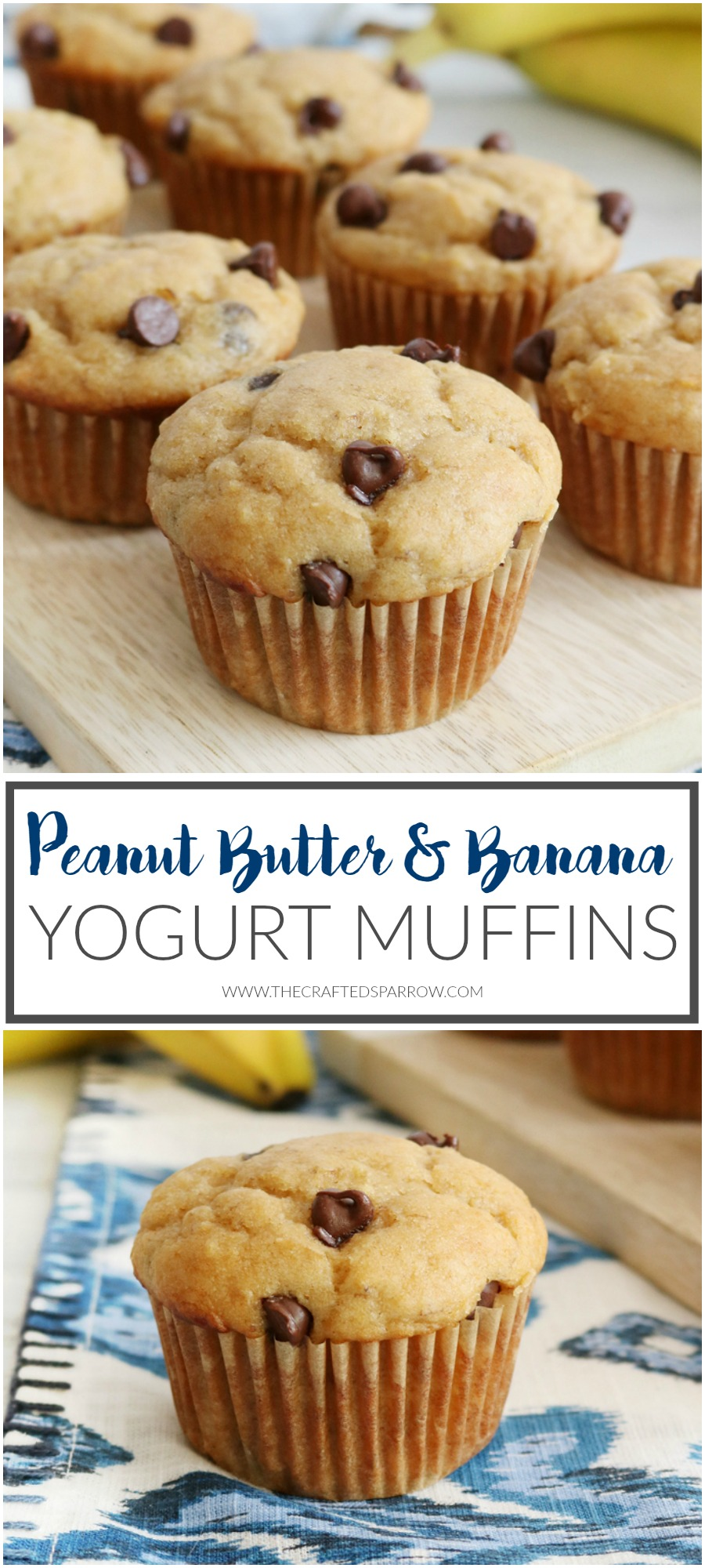 Peanut Butter Banana Yogurt Muffins