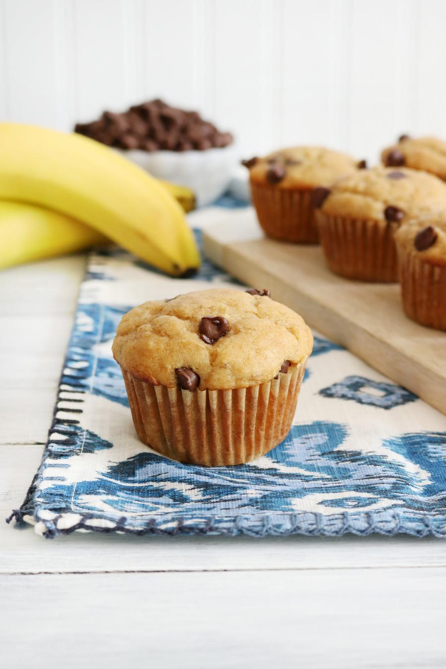 Peanut Butter Banana Yogurt Muffins