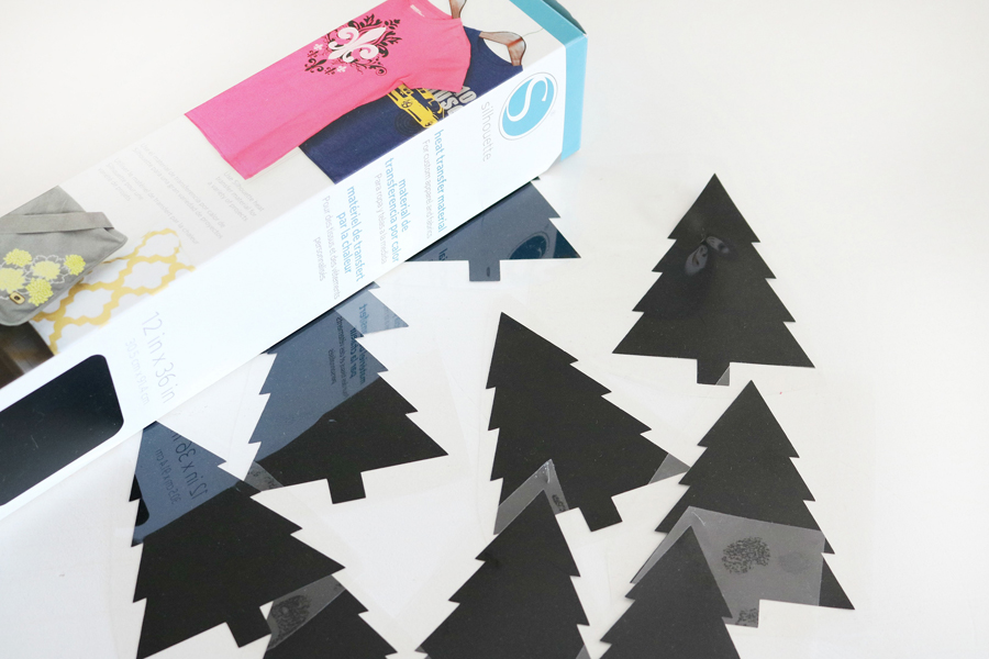 DIY Faux Leather Christmas Tree Pillow