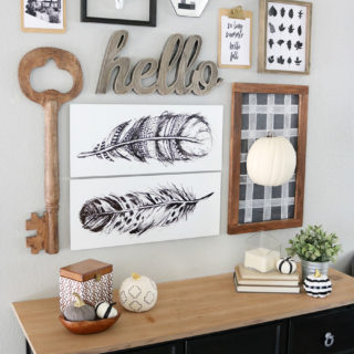 Black & White Easy Fall Decor with Yankee Candle