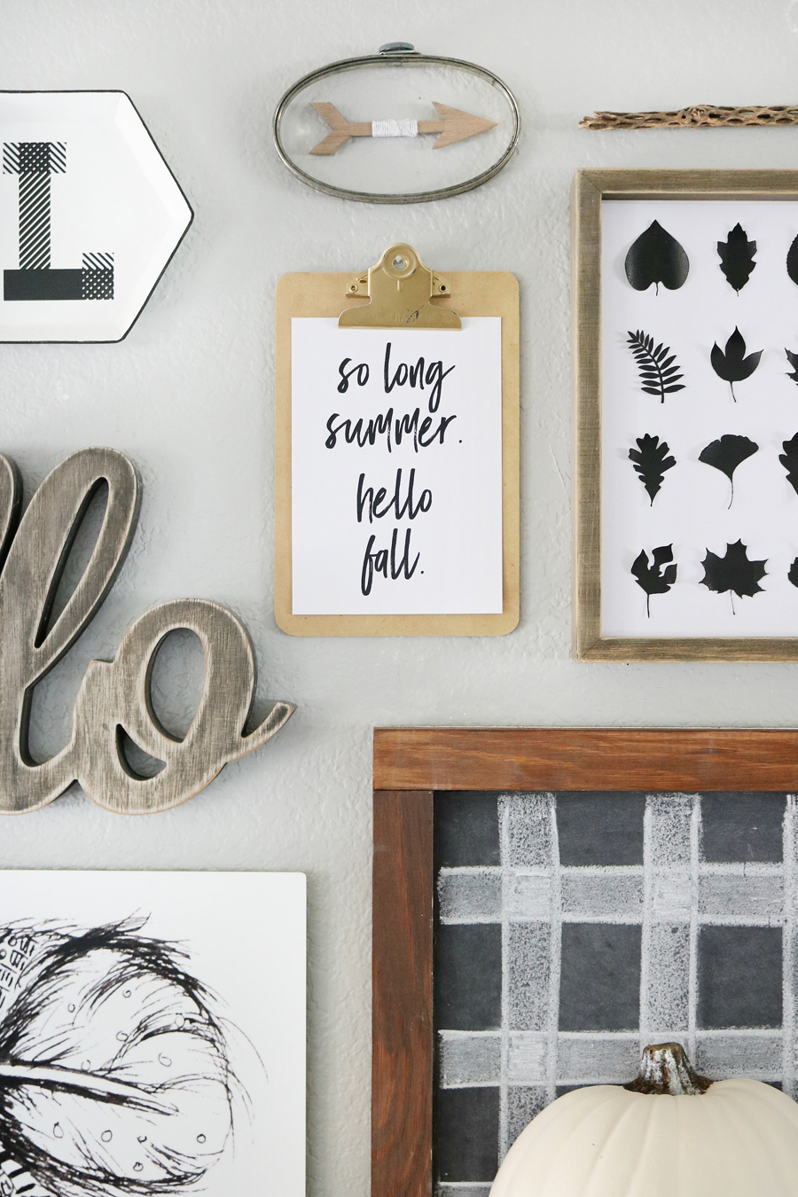 Black & White Easy Fall Decor