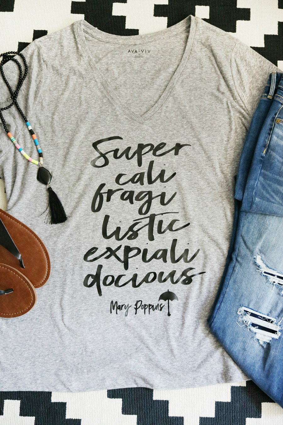 DIY Disney Mary Poppins T-Shirt
