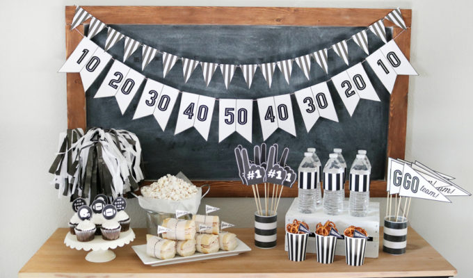 Free Game Day Football Printables + Game Day Clean-up Tips