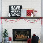 Buffalo Check Holiday Mantel