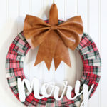 Faux Leather & Flannel Christmas Wreath