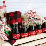 Coca-Cola Christmas Gift Basket Idea + Free Printable Tags
