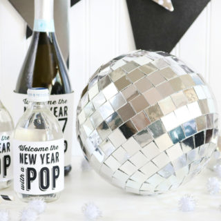 DIY New Years Eve Mirror Ball Decor