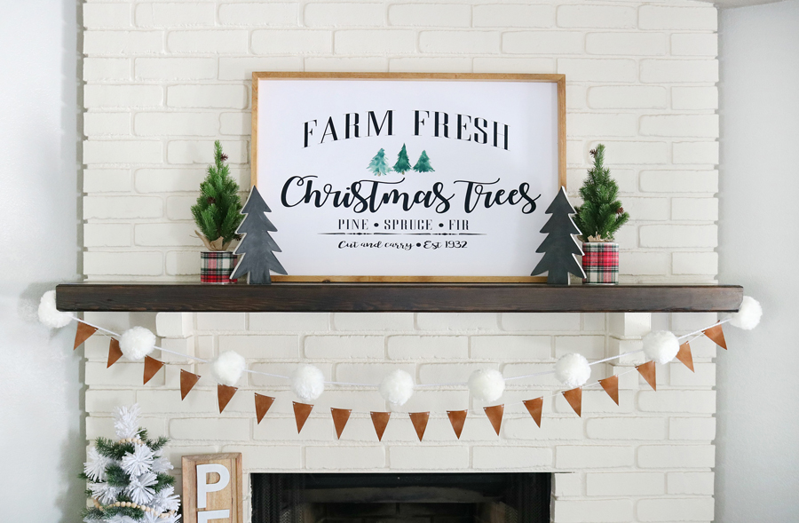 Leather & Flannel Christmas Mantel